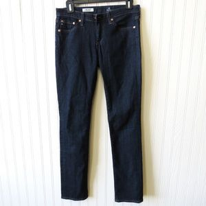 Ag Adriano Goldschmied Jeans - AG The Stevie Slim Straight Dark Wash Jeans 27